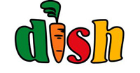 dish logo with a carrot as the letter i
