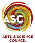 arts and science council logo showing a colorful swirl behing the letters ASC