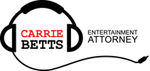 logo showing headphones around the name, Carrie Betts